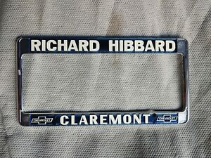 Richard Hibbard Chevrolet Chevy License Plate Frame Nos New Okd Stock Silverado