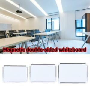 Magnetic White Board Dry Erase Board Eraser School Marker Writing G4d8