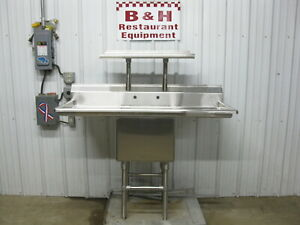 Advance Tabco 54 Stainless Steel One Compartment 1 Bowl Prep Sink W Over Shelf