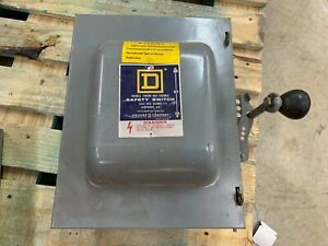 Used Square D 60amp Double Throw Safety Switch 82262