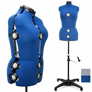 Blue 13 Dials Female Fabric Adjustable Mannequin Dress Form For Sewing Manneq