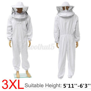 3xl Beekeeper Protect Bee Keeping Suit Jacket Safty Veil Hat Body Equipment New