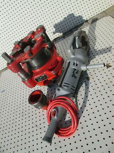 Ridgid 700 And 141 Receding Geared Threader W 744 Adater For 2 1 2 To 4