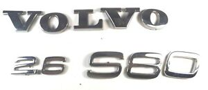 99 00 01 02 Volvo S80 2 6 Emblem Set Badge Rear Sign Logo Oem 1999 2002