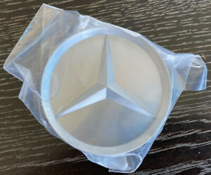 Genuine Mercedes Wheel Hub Center Cover Satin Silver New