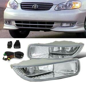 For 2003 2004 Toyota Corolla Clear Oe Style Fog Light Bumper Driving Lamp Switch