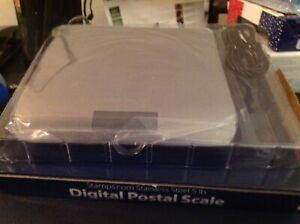 5 Lb Pound Stainless Steel Digital Postal Scale Stamps com W usb Cord