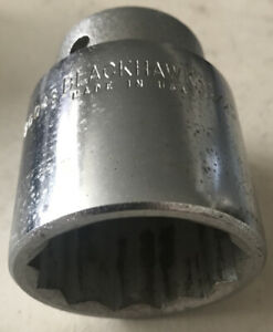 1 1 2 Blackhawk 3 4 Drive Short 12 Point Socket Made In The Usa By Proto