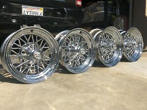 4 Hot Rod 30 Spoke Cragar Star Wire Wheels Front 14x6 Rear 15x7 Staggered Og