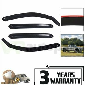 In Channel Window Vent Visor Rain Guards For 05 15 Toyota Tacoma Double Crew Cab