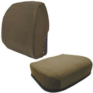 Seat Cushion Set Brown Fabric Fits John Deere 4055 4255 4455 4555 4755 4955