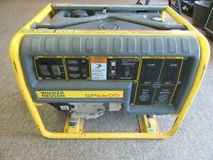 Wacker Neuson Gp6600a Portable Generator Honda Gas Engine