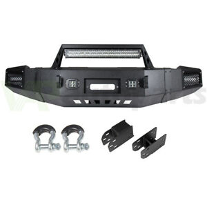 Heavy Duty Front Bumper With D rings Led Lights For 17 13 Chevy Silverado 1500