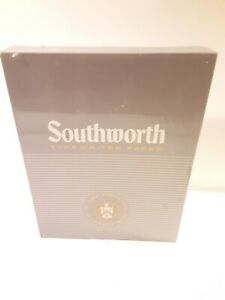 New Southworth Racerase Typewriter Paper Cockle Finish 419cr 25 Cotton 8 5x11