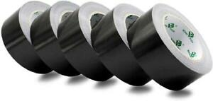5 Pack Black Duct Tape Roll Crafts Residue Free Duct Sealing Tape Multi Pack 8