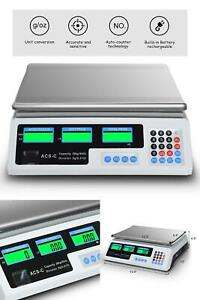 Digital Scale Price Computing Deli Electronic Counting Weight 66 Lb Commercial