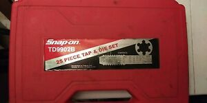 Snap On Tools Td9902b 25 piece Sae Tap And Die Set Good Condition