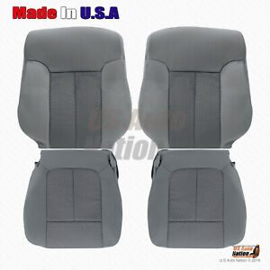 2011 2014 Ford F150 Front Driver Passenger Cloth Replacement Seat Cover Gray
