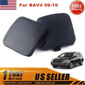 Fit For Toyota Rav4 2009 2010 2x Front Left Right Bumper Tow Hook Eye Cover Cap