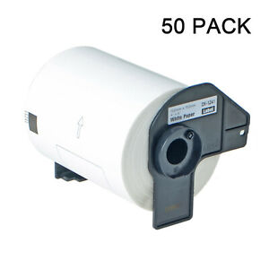 50rolls For Brother Dk 1241 200 White Shipping Labels 4 X 6 W Permanent Frame