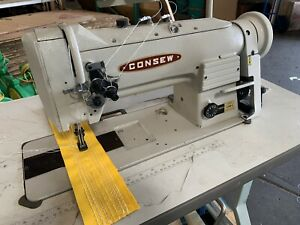 Used Consew Industrial Sewing Machine Double Needle 339rb 4 Walking Foot