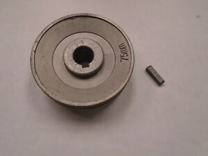 75mm Industrial Sewing Machine Clutch Motor V belt Pulley With Key 15mm Id A237