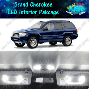 16x White Led Lights Interior Package Kit For 1999 2004 Jeep Grand Cherokee Wj
