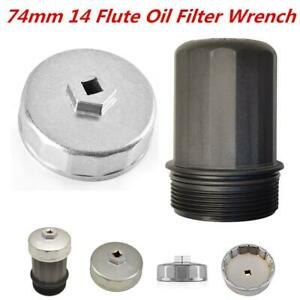 New 74mm 14 Flute Oil Filter Wrench Caps For Toyotamazdabmw Motorcycle
