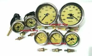 Smiths Gauge Kit Temp Oil Fuel Volt oil Temp speedometer tacho Replica
