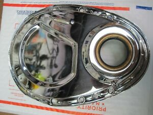 Timing Chain Cover Sbc Chevy Gen 1 Chrome 383 406 305 327 350 Small Block Chevy