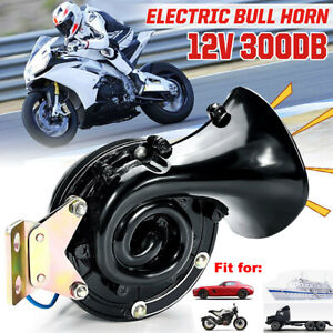 300db 12v Super Loud Electric Snail Air Horn For Motorcycle Car Truck Boat Black