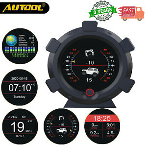 Autool X95 Car Gps Hud Auto Digital Slope Gauge Inclinometer Speedometer Mph Kmh