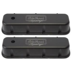 Edelbrock 41803 Victor Series Valve Cover Set Big Block Chevy