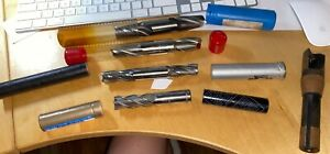 End Mills Machinist Cutting Tools Some New Some Used