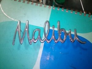 Gm Malibu Emblem Metal Script Trim Chrome Badge Chevrolet Original Oem