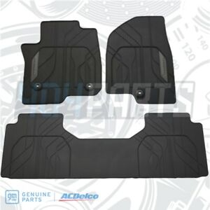 2021 Tahoe Suburban 1st 2nd Row All Weather Floor Mats Genuine Gm 84503126