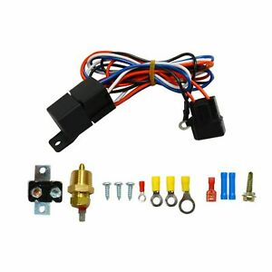 3 8 Thread Electric Radiator Fan Temperature Switch Sensor Thermostat Relay Kit