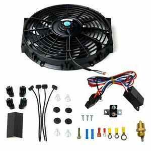 12 Electric Radiator Fan W 800 Cfm Thermostat Wiring Switch Relay Kit