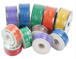 Flexible Pcb Solder Copper Cable 30awg Wrapping Wrap Wire 305m P n B 30 1000
