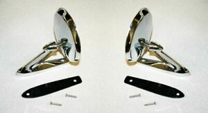 Pair 19651966 Mustang Standard Side View Mirror 66 Bronco 1963 66 Falcon