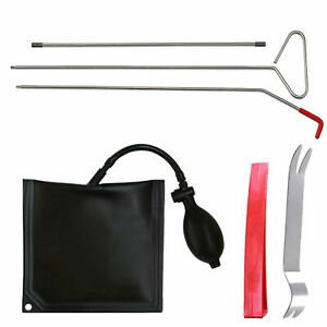 Car Door Open Unlock Tool Kit Lock Out Air Pump Air Wedge Set