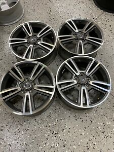 2010 2014 Ford Mustang 17 Wheels Gray W Machined Face Oem 4