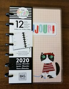 Mambi The Happy Planner Ooh La La Bonjour Cat cover And Discs Only