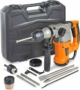 Rotary Hammer Drill Case Concrete Drill Demolition Kit Electric Breaker Punch