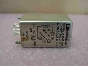 Datron 40gbo 2 b 12k 1 Relay Contacts 28 Vdc 2 Amps
