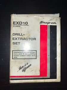 Snap On 10 Pcs Broken Bolt Extractor Set Cobalt Drills Exd 10