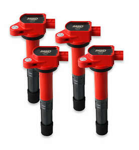 Msd Red Blaster Ignition Coils 08 17 Honda acura 2 4l 4 pack