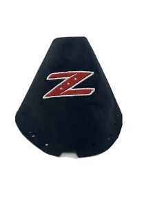 Fits 03 08 Nissan 350z Shift Boot Embroidered Z Black And White Red Logo