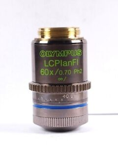 Olympus Lcplanfl 60x Ph2 Phase Contrast Objective For Bx Ix Cx Microscope