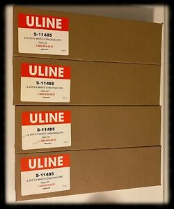 Huge Lot Of 2000 Uline S 11485 2 25 x3 5 White Coin Envelopes Jewelry Keys